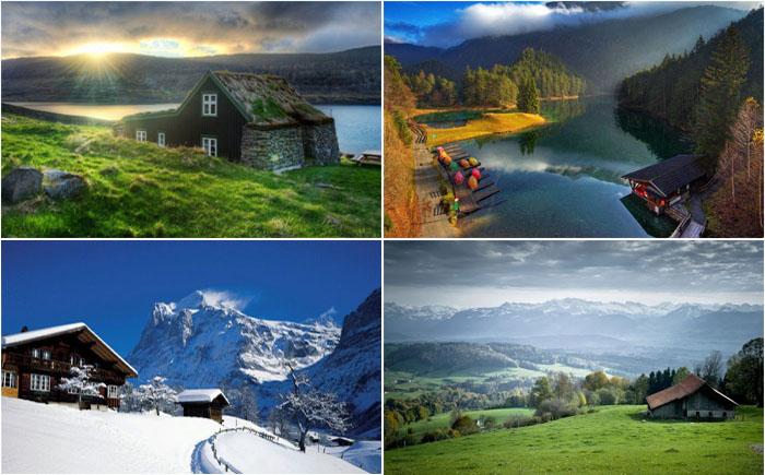 Домик в горах – лучший выбор для уединения