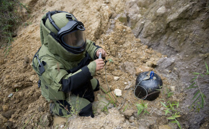 Устройство для обезвреживания мин