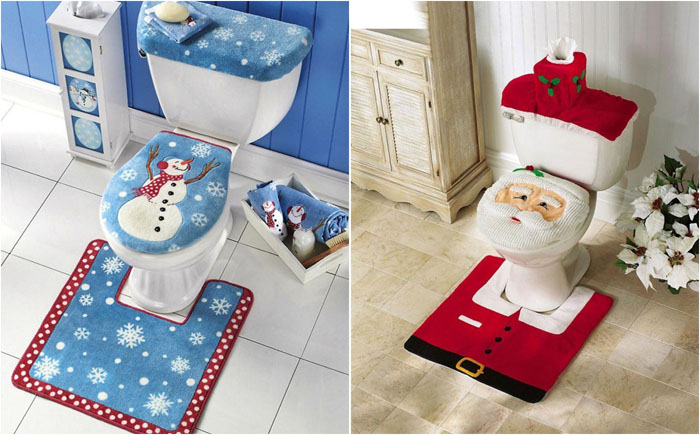 Новогодние комплекты для туалета