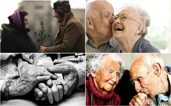 фото старая супружеская пара нежность