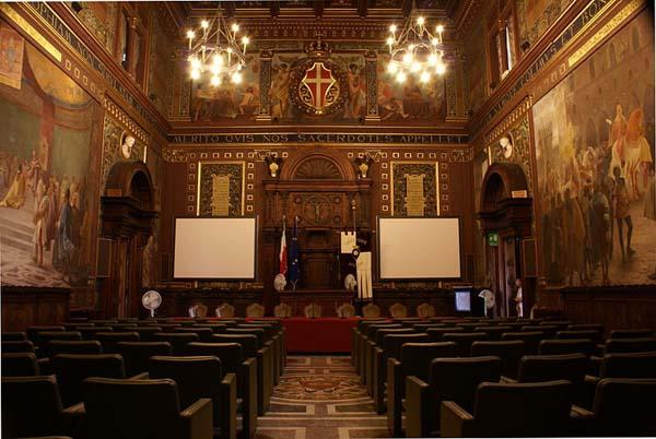 Университет Мачерата: актовый зал