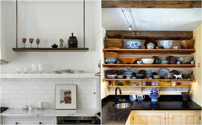 Советы дизайнера: как правильно и эффективно использовать открытые полки в интерьере кухни