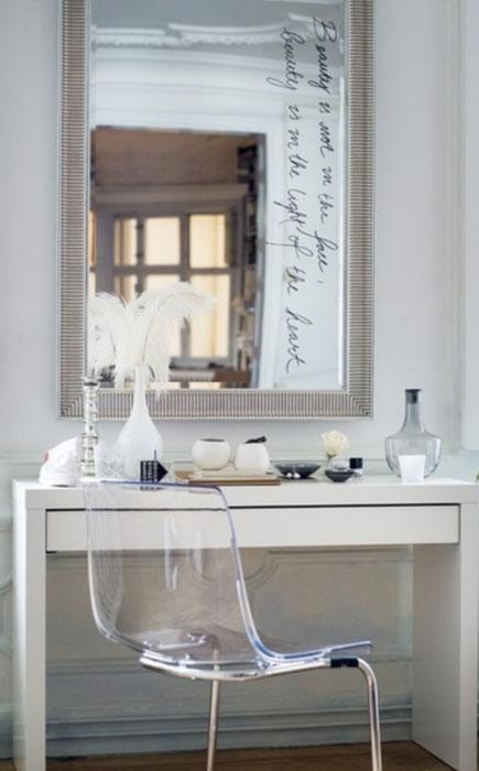 Большое зеркало  и правильное освещение