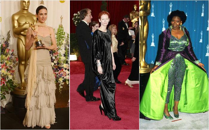 Самые безвкусные  наряды на церемонии «Оскар» за всю его историю