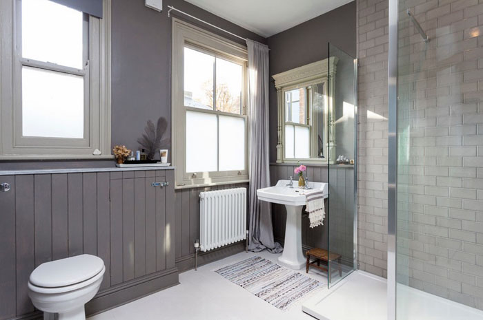 Интерьер ванной в скандинавском стиле