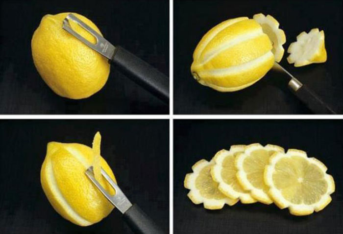 Декорируем лимон