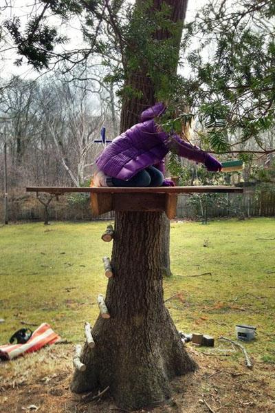 Шалаш на дереве