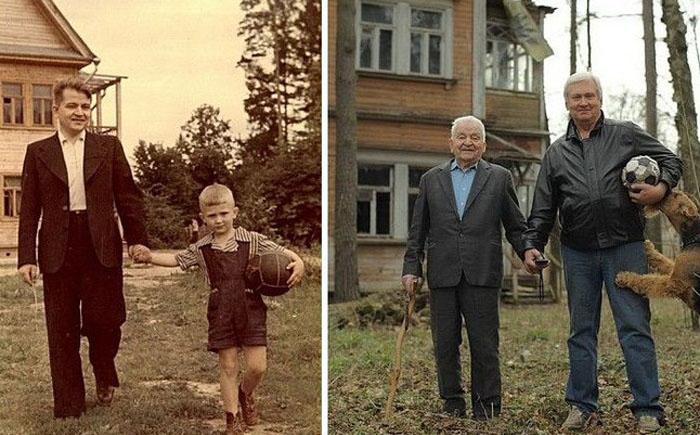 Любимые семейные фотографии много лет спустя