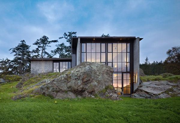 Высеченный в камне: дом Pierre от студии Olson Kundig Architects