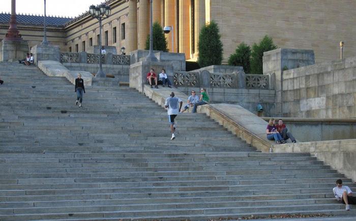 Лестница перед Музеем искусств в Филадельфии