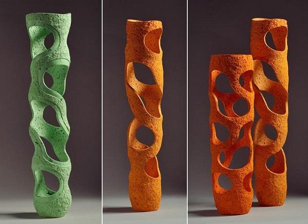 Ажурные разноцветные вазы от  Донатаса Жукаускаса