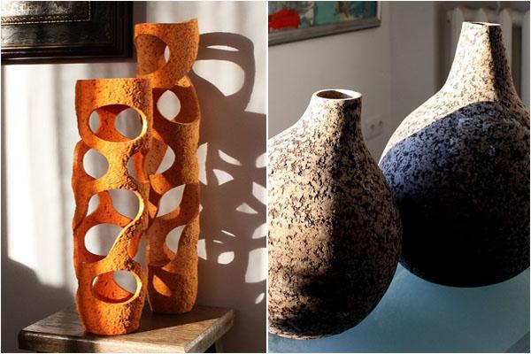 Декоративные вазы от литовского дизайнера Донатаса Жукаускаса