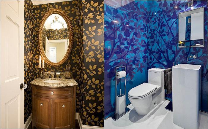 Разнообразие цветовой гаммы в интерьере ванных комнат