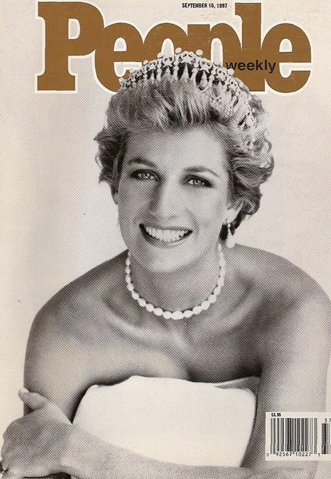 Принцесса Диана на обложке журнала