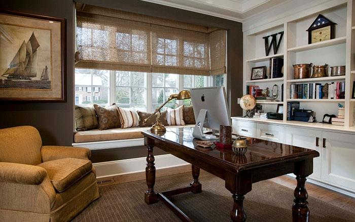 Интерьер домашнего офиса от Beach Glass Interior Designs