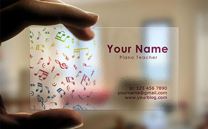 Прозрачная визитка