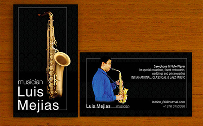 Визитка саксофониста