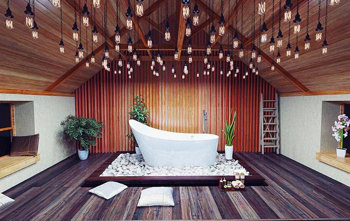 Интерьер ванной от OTM Designs & Remodeling