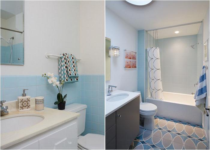 Вторая ванная комната до и после реконструкции