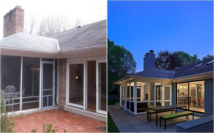 Веранда до и после реконструкции