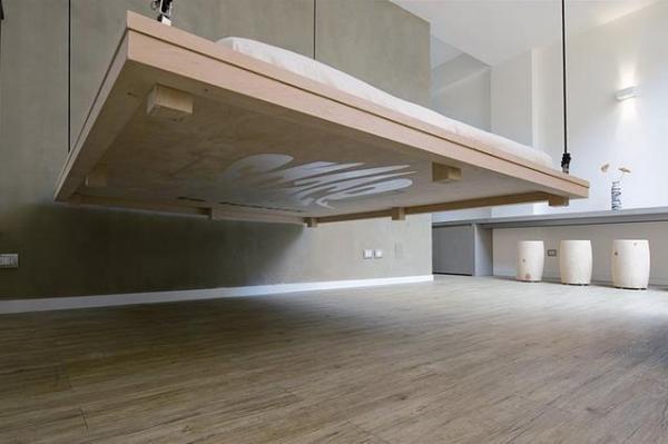 Исчезающая кровать - отличный способ получить дополнительное пространство