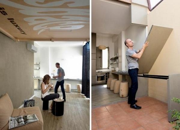 Исчезающая кровать -  как увеличить площадь квартиры