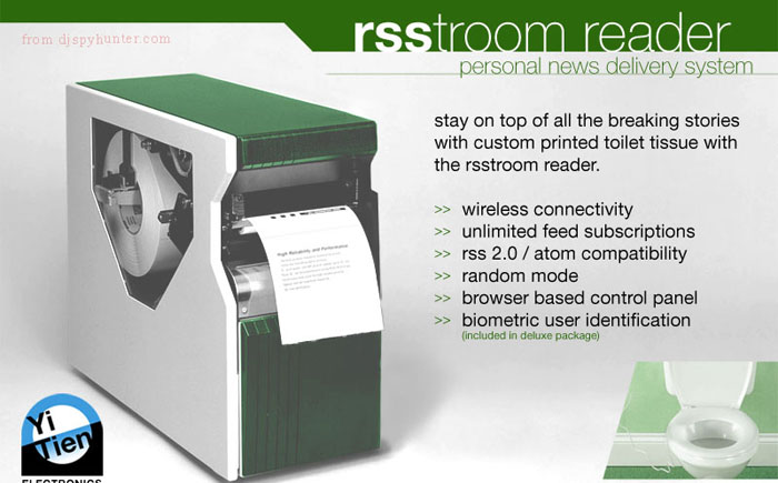 A device for reading news feeds