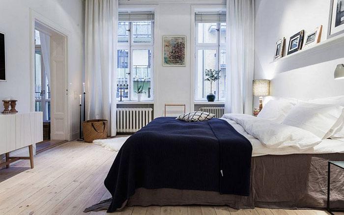Элегантная спальня в нейтральных тонах от Alexander White