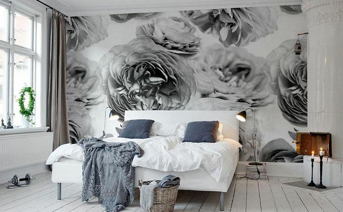 Потрясающая спальня в скандинавских тонах от Rebel Walls
