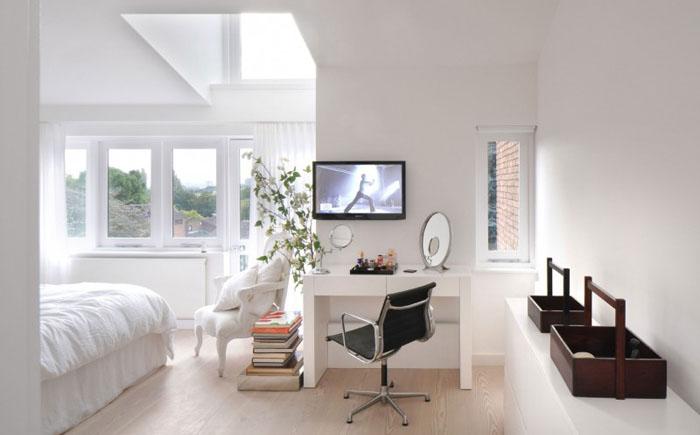 Уютная спальня с домашним офисом от TG Studio
