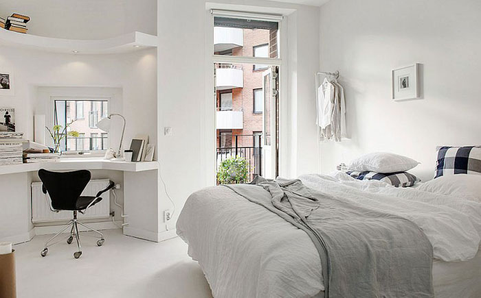 Спальня в скандинавском стиле от  Alvhem Brokerage and Interior
