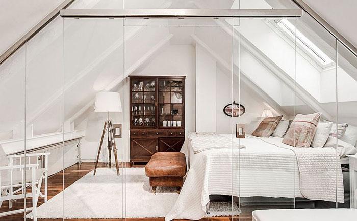 Роскошная спальня на чердаке
