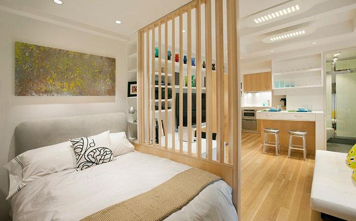 Спальня в скандинавском стиле в малогабаритной квартире от Allen+Killcoyne Architects