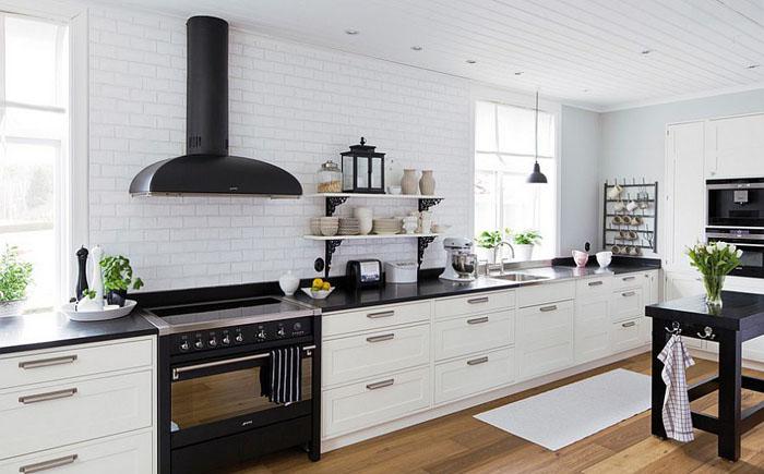 Интерьер кухни скандинавский
