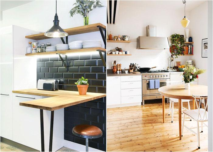 Небольшая кухня в уголке от Nest Architects