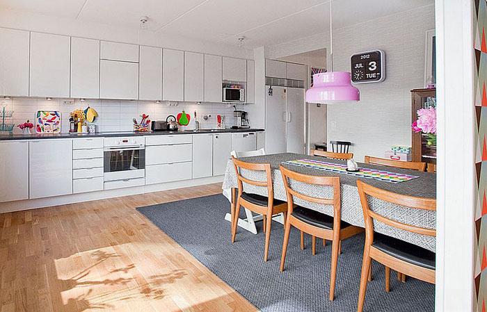 Кухня и столовая в скандинавском стиле