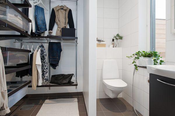 Ванная комната и гардеробная объединены в единое целое