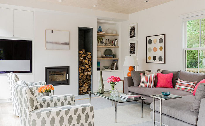 Интерьер гостиной в скандинавском стиле от Terrat Elms Interior Design
