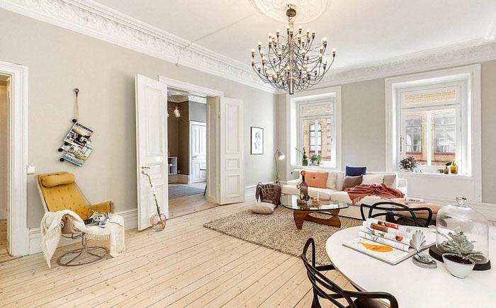 Современная гостиная в скандинавском стиле