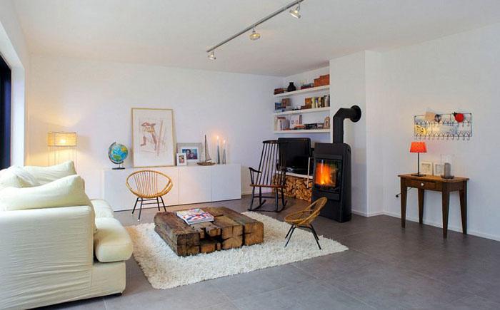 Интерьер гостиной в скандинавском стиле от Architektin Mareike Olbers