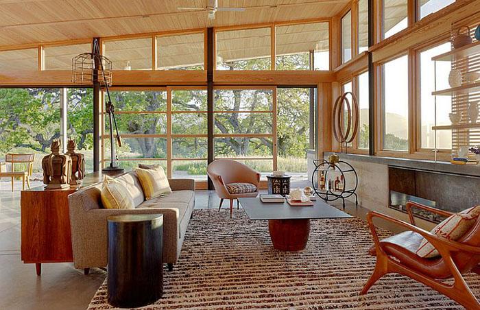 Интерьер гостиной от  Jeffers Design Group