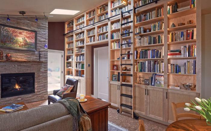 Гостиная и библиотека