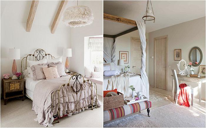 50 самых оригинальных спален в стиле потёртого шика