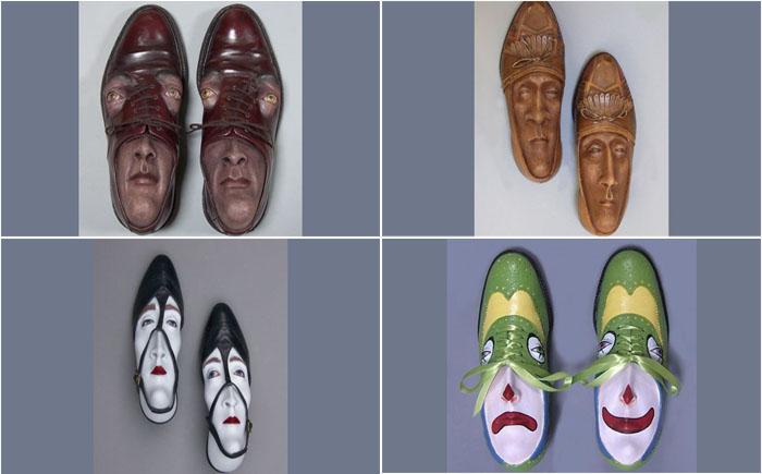 10 самых невероятных скульптур из ношеной обуви