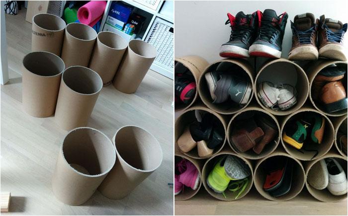 Как сделать ящик для обуви своими руками