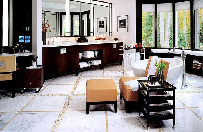Интерьер ванной от alene workman interior design