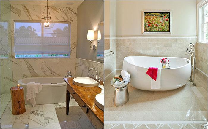 Приставные столики в ванной