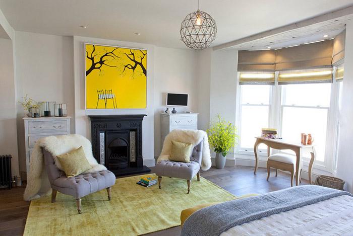 Интерьер спальни от Camellia Interiors Ltd