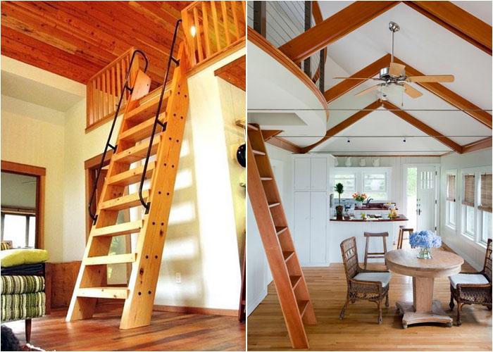 Приставная лестница вместо маршевой