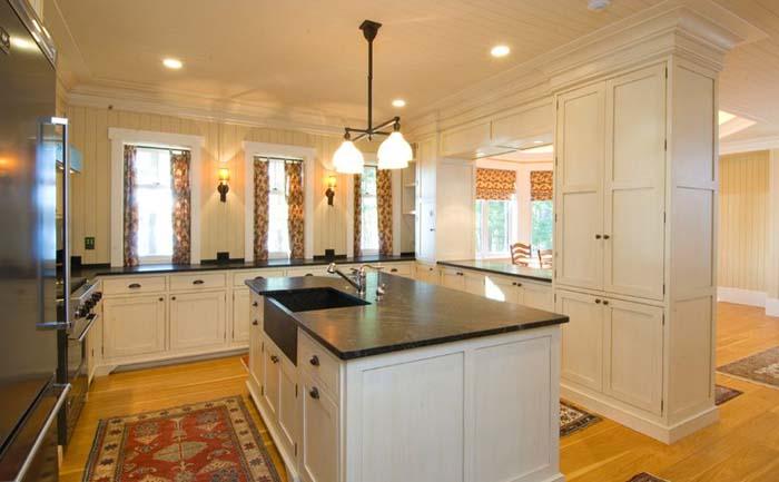 Кухонный остров со стеатитовой поверхностью
